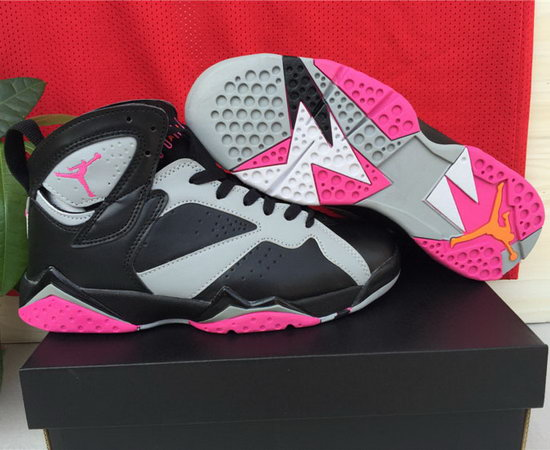 Womens Air Jordan Retro 7 Black Grey Purple Poland