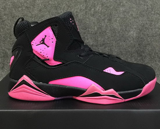 Womens Air Jordan Retro 7 Black Pink Wholesale