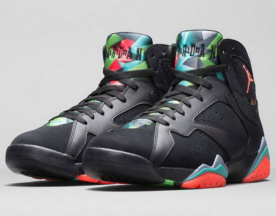 Womens Air Jordan Retro 7 Black Red Jade Sale