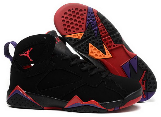 Womens Air Jordan Retro 7 Black Red Online Store