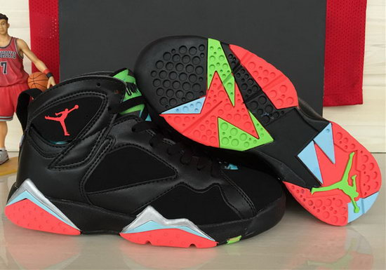 Womens Air Jordan Retro 7 Black Red Silver For Sale