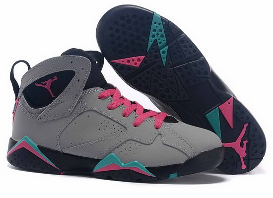 Womens Air Jordan Retro 7 Grey Pink Jade Outlet Store