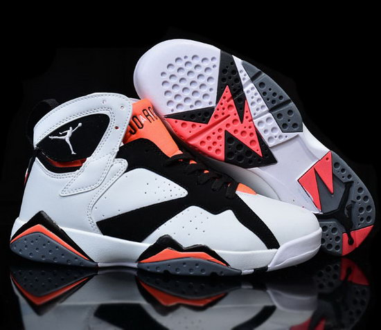 Womens Air Jordan Retro 7 White Black Orange Promo Code