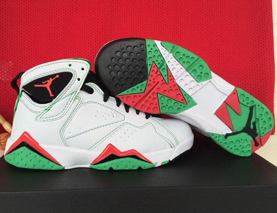 Womens Air Jordan Retro 7 White Black Red Clearance