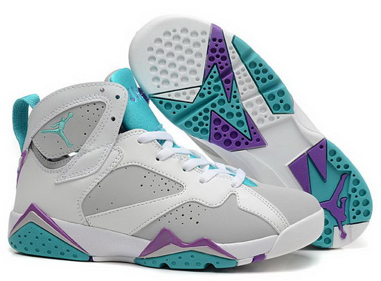 Womens Air Jordan Retro 7 White Grey Jade Korea