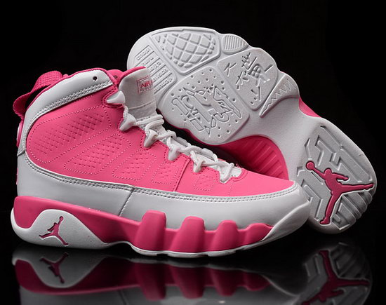Womens Air Jordan Retro 9 Pink White Australia