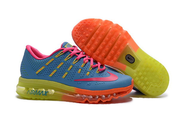 Womens Air Max 2016 Orange Pink Green Blue Shoes Germany