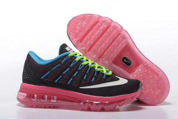 Womens Air Max 2016 Pink Blue Black Green White Shoes Factory Outlet