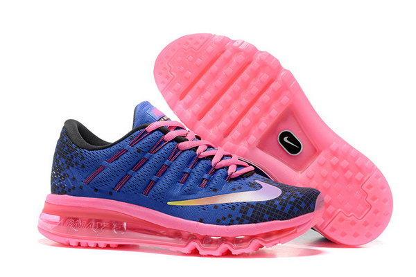 Womens Air Max 2016 Pink Blue Black Shoes Inexpensive