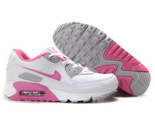 Womens Air Max 90 Grey Pink White Norway