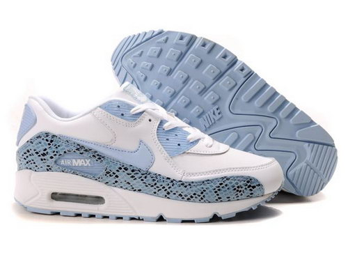 Womens Air Max 90 Light Blue White Online Shop