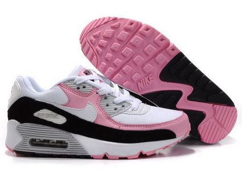 Womens Air Max 90 Pink Black White Spain