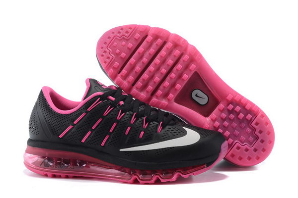 Womens Cheap Air Max 2016 Leather Black Pink Online Store