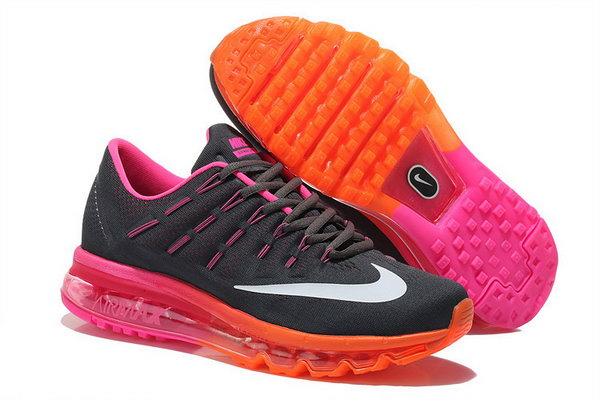 Womens Cheap Nike Air Max 2016 Black Purple Orange Clearance