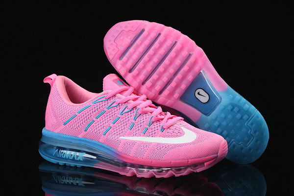 Womens Cheap Nike Air Max 2016 Flyknit Pink Blue White Closeout