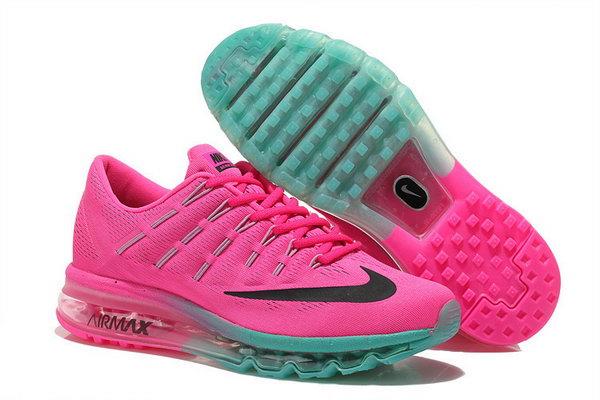 Womens Cheap Nike Air Max 2016 Grass Green Pink Black Czech