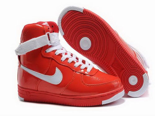 Womens Nike Air Feather High Wns Red White Sale