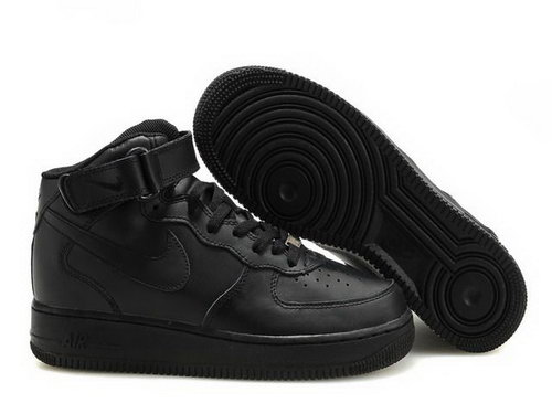 Womens Nike Air Force 1 25th High Shoes All Black Online Store