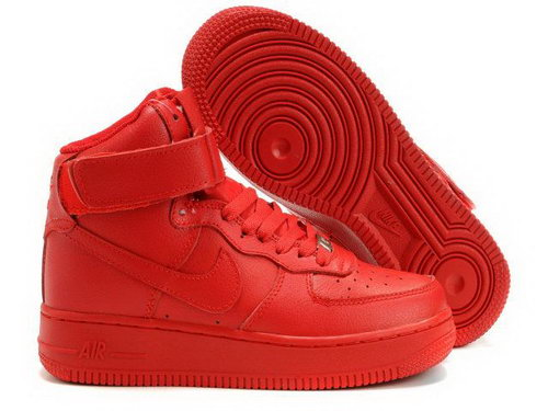 Womens Nike Air Force 1 25th High Shoes All Red Outlet Store