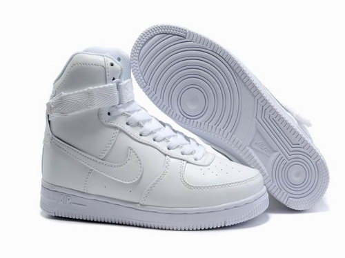 Womens Nike Air Force 1 25th High Shoes All White Japan
