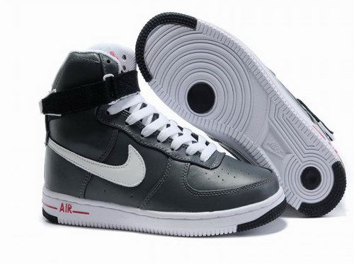 Womens Nike Air Force 1 25th High Shoes Anthracite Grey White Usa