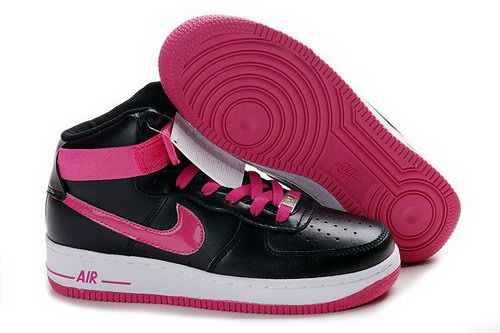 Womens Nike Air Force 1 25th High Shoes Black Pink Australia