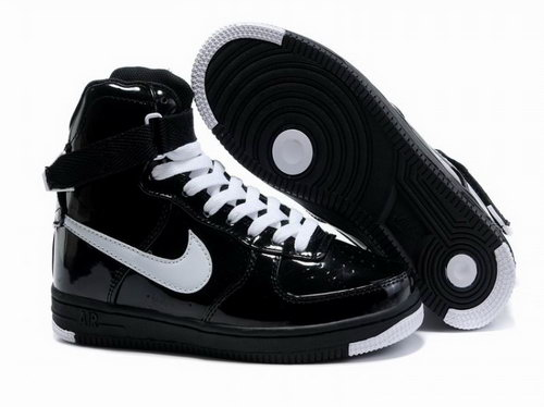Womens Nike Air Force 1 25th High Shoes Black White Korea