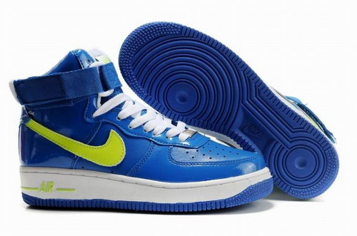 Womens Nike Air Force 1 25th High Shoes Blue Lemon Czech