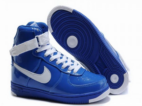 Womens Nike Air Force 1 25th High Shoes Blue White Netherlands
