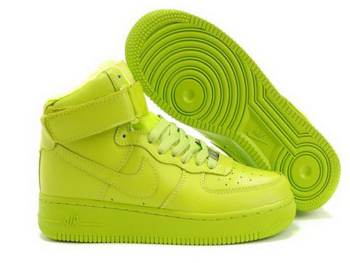 Womens Nike Air Force 1 25th High Shoes Lemon Low Cost