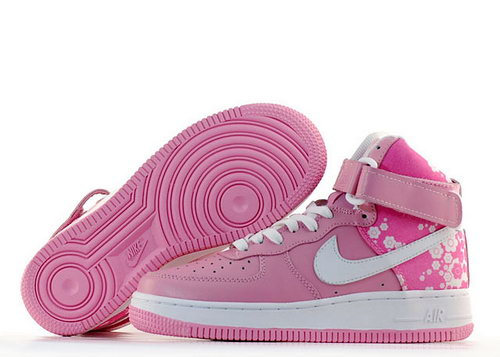Womens Nike Air Force 1 25th High Shoes Pink White Best Price