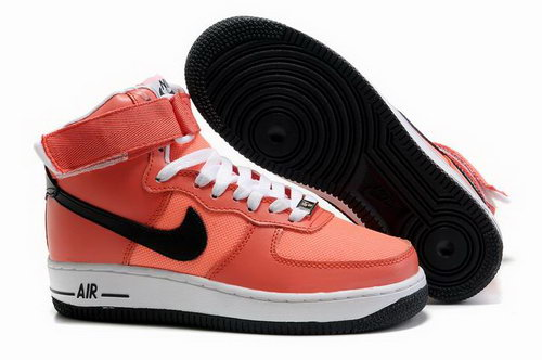 Womens Nike Air Force 1 25th High Shoes Salmon Pink Outlet