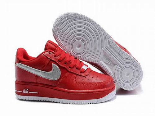 Womens Nike Air Force 1 25th Low Shoes Red Silver Review