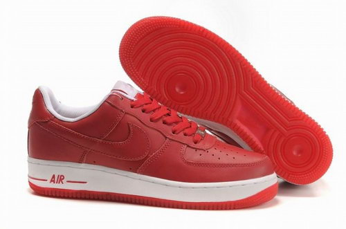 Womens Nike Air Force 1 25th Low Shoes Red Factory Outlet