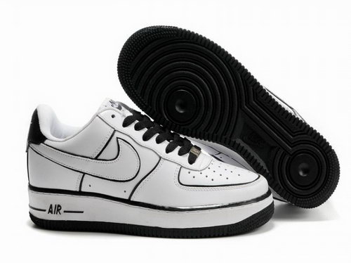 Womens Nike Air Force 1 25th Low Shoes White Black Line Inexpensive