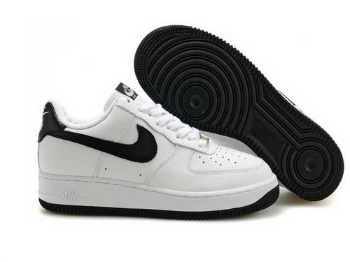 Womens Nike Air Force 1 25th Low Shoes White Black Logo New Zealand