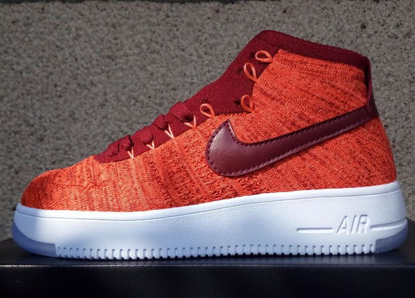 Womens Nike Air Force 1 Flyknit High Orange Online