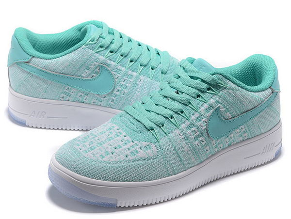 Womens Nike Air Force 1 Flyknit Low Mint Green Low Price