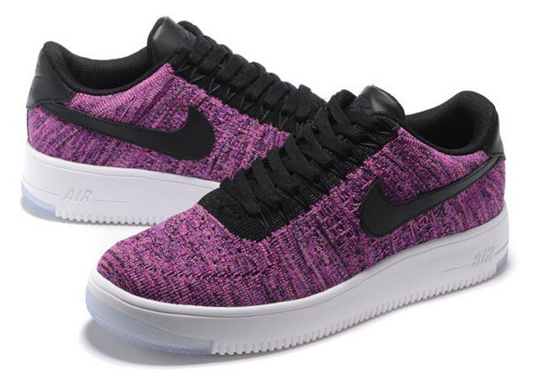 Womens Nike Air Force 1 Flyknit Low Purple Black Coupon