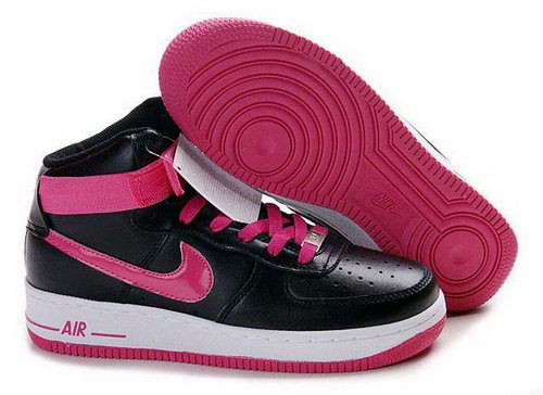 Womens Nike Air Force 1 High Wns Black Pink White Factory Store
