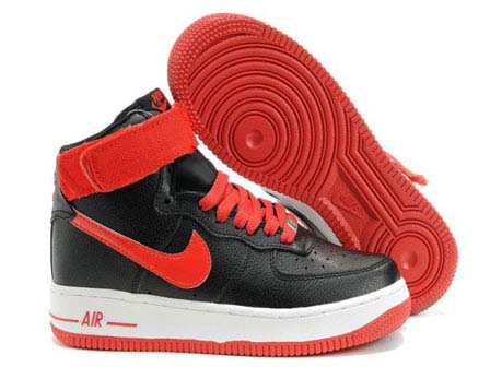 Womens Nike Air Force 1 High Wns Black Red Outlet Online