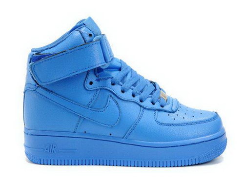 Womens Nike Air Force 1 High Wns Qk All Blue Hong Kong