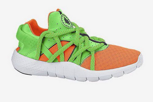 Womens Nike Air Huarache Nm Orange Green Wholesale