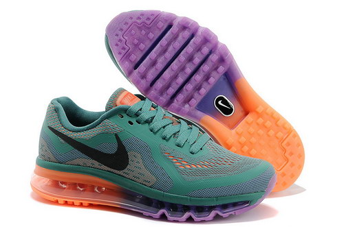 Womens Nike Air Max 2014 Purple Green Black Orange Low Price