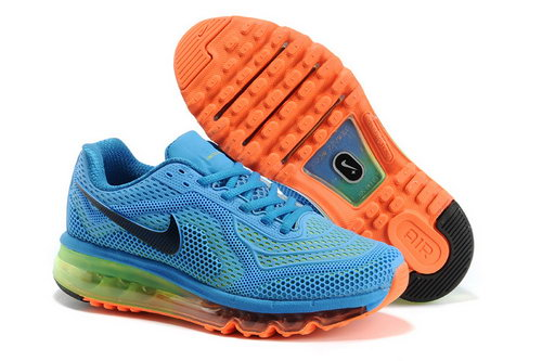 Womens Nike Air Max 2014 Sky Blue Orange Black Green Sweden