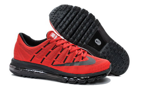Womens Nike Air Max 2016 Shoes Black Red Spain