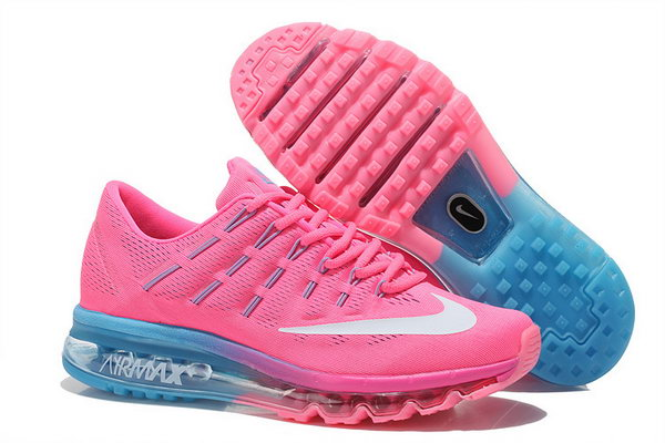 Womens Nike Air Max 2016 Shoes Blue Pink Factory Outlet