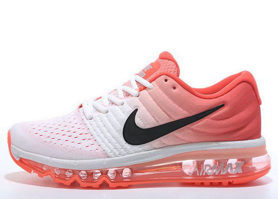 Womens Nike Air Max 2017 White Orange Black Clearance