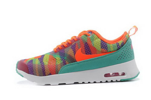 Womens Nike Air Max Thea Orange Red Water Green Online