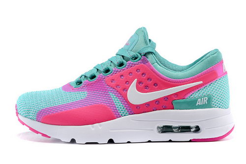 Womens Nike Air Max Zero Pink Green White Hong Kong